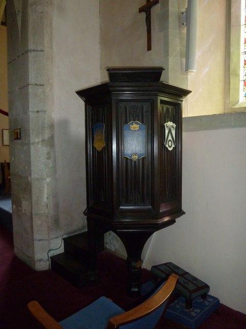 Saint Mary, Amport: pulpit
