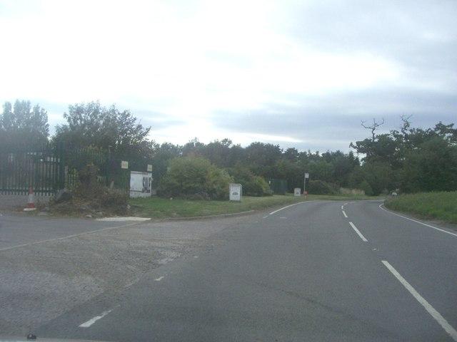 Ongar Road by Stapleford aerodrome