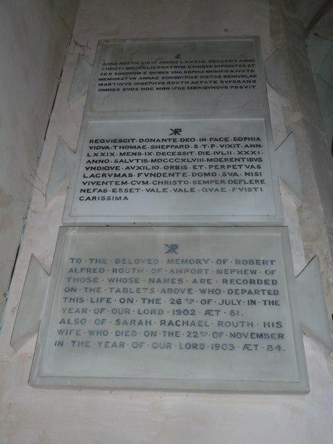 Saint Mary, Amport: memorial (G)
