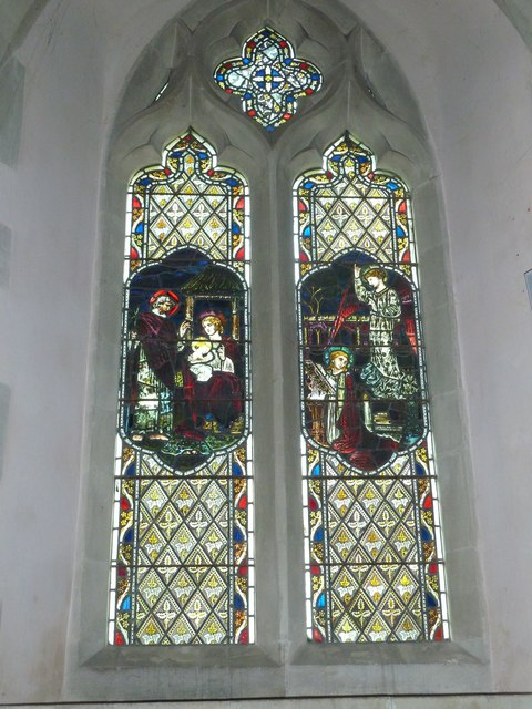 Saint Mary, Amport: stained glass window (ix)