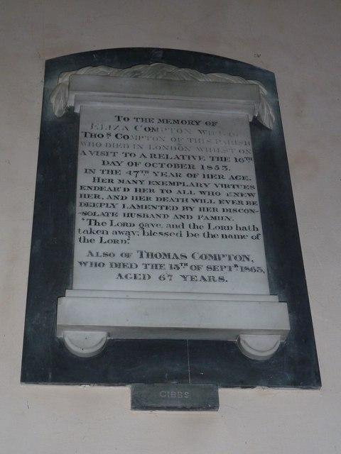 Saint Mary, Amport: memorial (H)