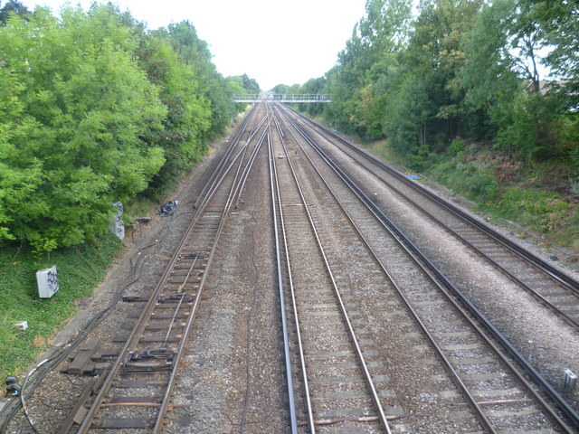 View up the line from Crofton Lane