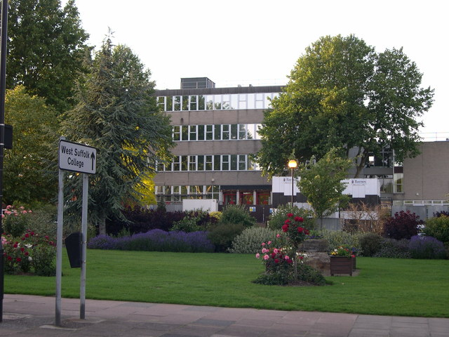 West Suffolk College from across the street