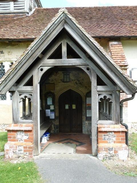 St Nicholas, Leckford: church porch