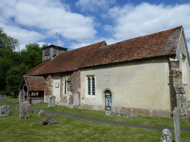 St Nicholas, Leckford in August 2011