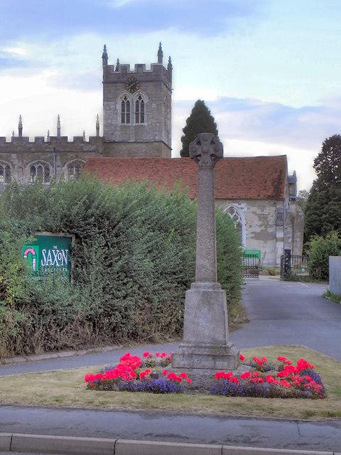 War Memorial and St Peter's Church, Wootton Wawen