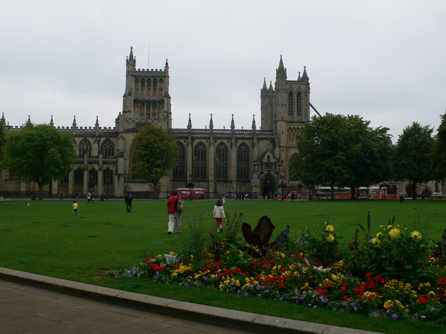 Bristol Cathedral overlooking College Green