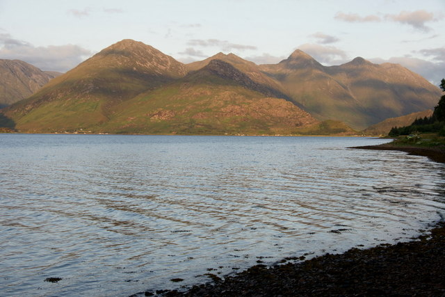 View to the Five Sisters from Letterfearn