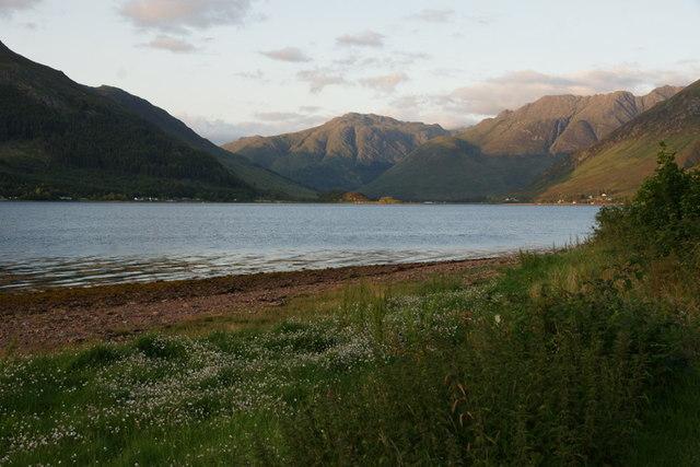 Shore of Loch Duich at Ratagan