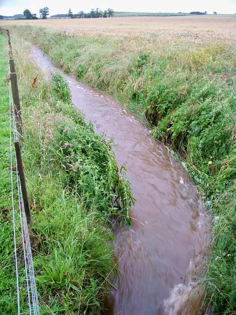 Swollen Burn at Angelrow - North Side Of Track