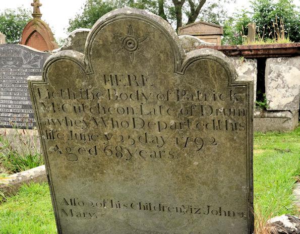 Headstone, Movilla Abbey,  Newtownards (1)