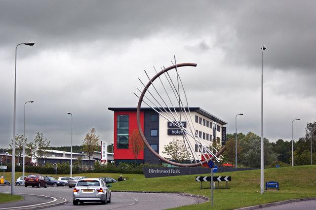 A distinctive roundabout