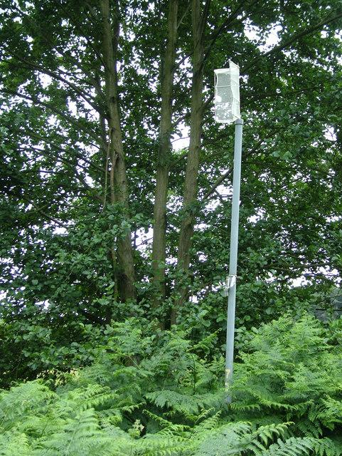 Mystery post near Sizewell power station