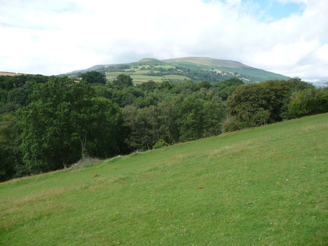 View to Crug Hywel from just north of Llangenny