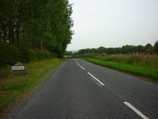 Entering Farnham, North Yorkshire