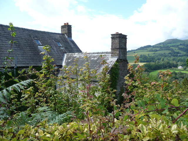 Part of Ty-canol farmhouse, above the Grwyne Fawr valley