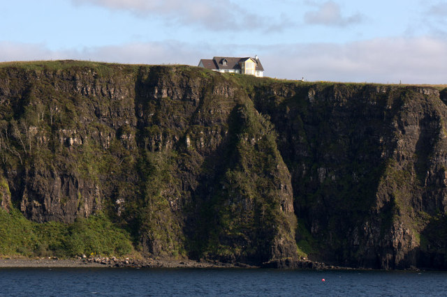 Clifftop house at Earlish, near Uig