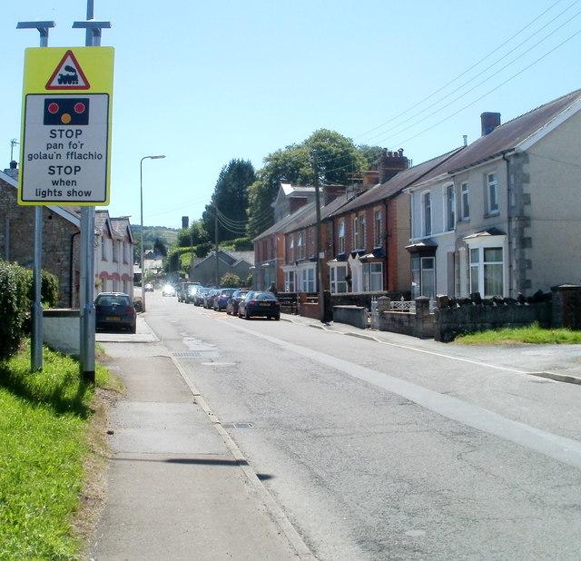 Warning of level crossing ahead, Ffairfach