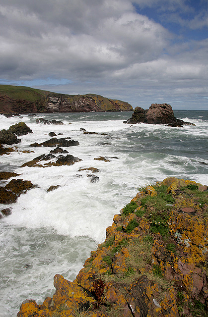 A lively sea at St Abbs
