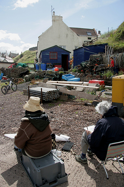 Artists at St Abbs