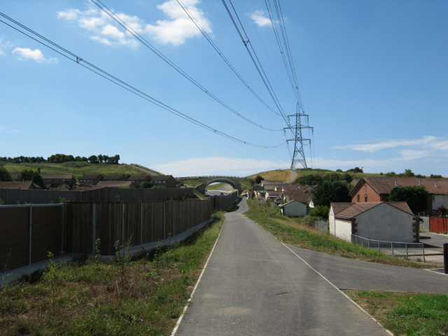 Footpath beside the Weymouth Relief Road