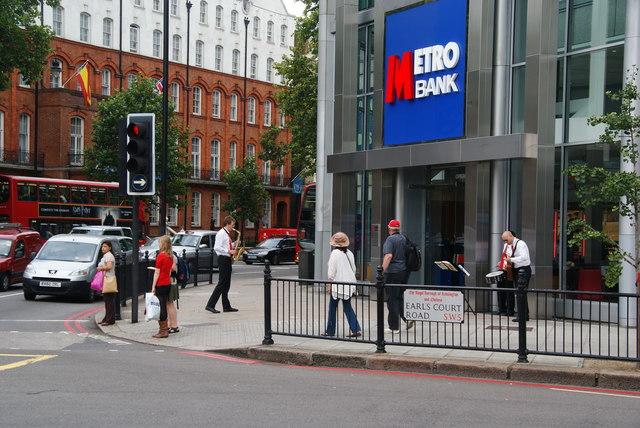 Jazz band outside the Metro Bank