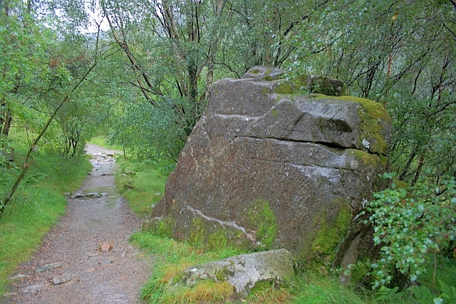 Boulder on the Footpath to Steall