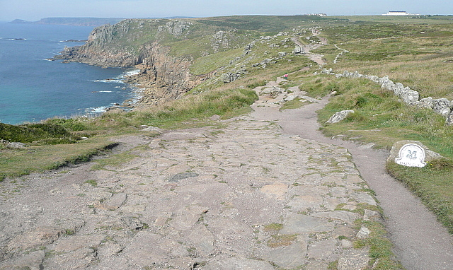 Coastal path at Trevescan Cliff