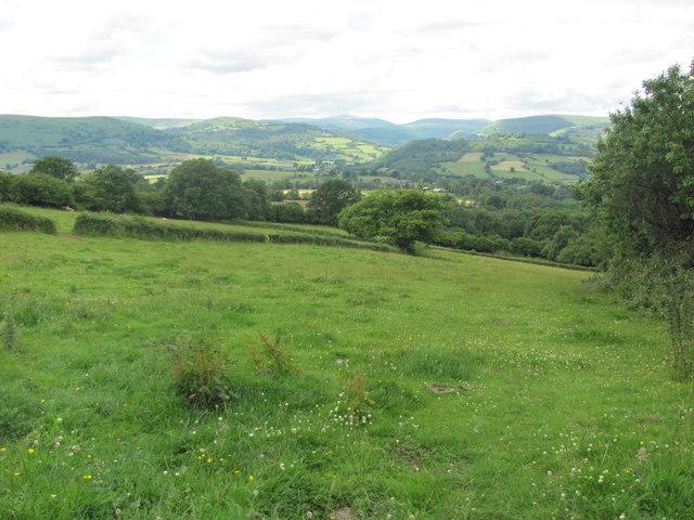 Fields north of the Skirrid