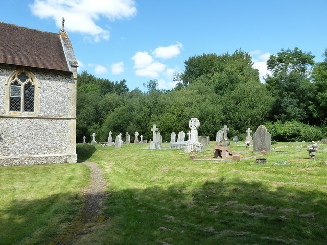 All Saints, Upper Clatford: churchyard in August 2011 (b)