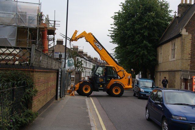 Building materials delivery on Rylston Road