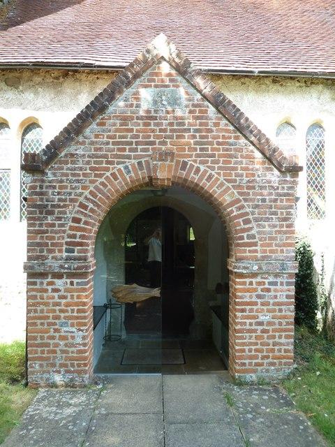 All Saints, Upper Clatford: church porch