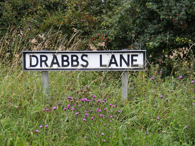 Drabbs Lane sign