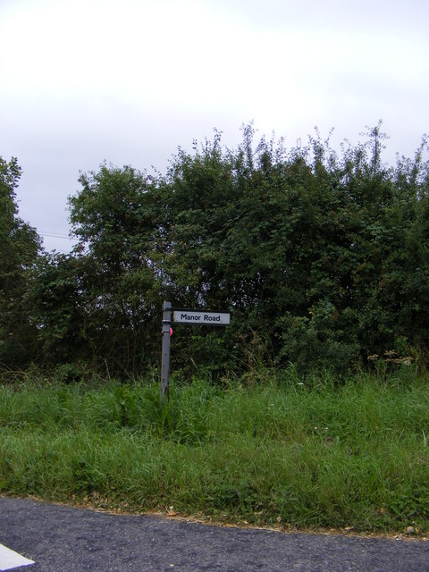 Manor Road sign