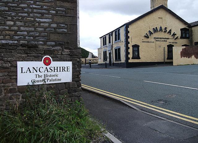 The old Lancashire/Yorkshire boundary, Grains Bar