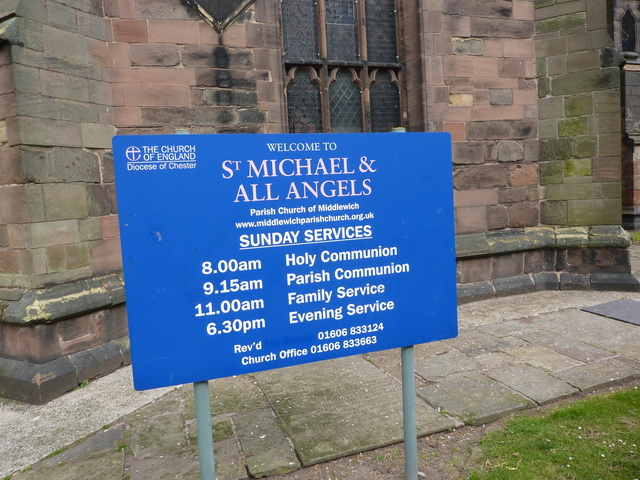 St Michael and All Saints Church, Middlewich, Sign