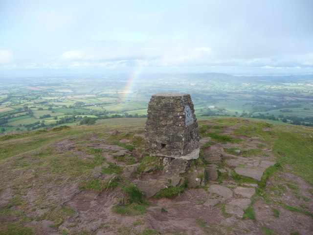 Skirrid summit trig point