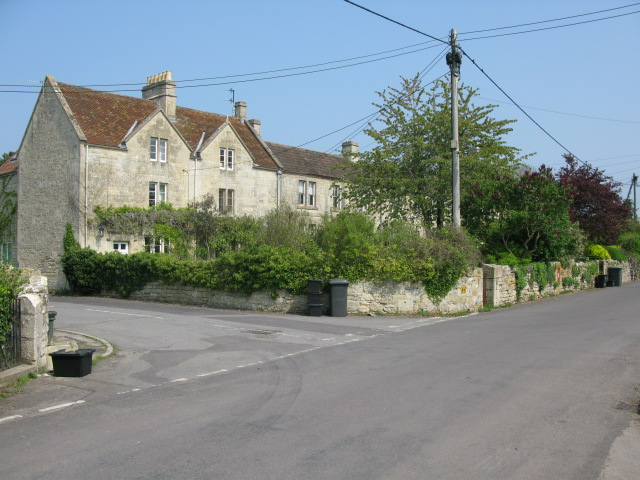 Houses on lane at Upper Westwood