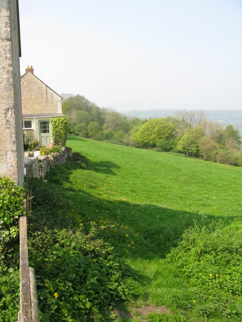 View along the backs of houses at Upper Westwood