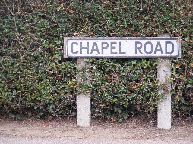 Chapel Road sign