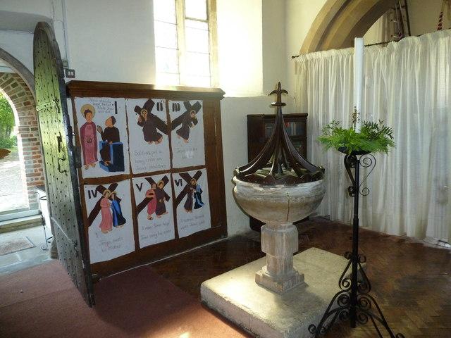 All Saints, Upper Clatford: font