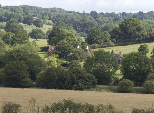 Bugsell Mill Oast across the Rother Valley