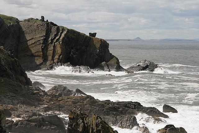 The rocky Berwickshire coast