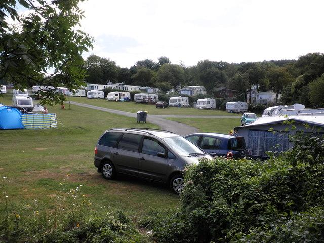 Caravan and camping site, at Warren Farm