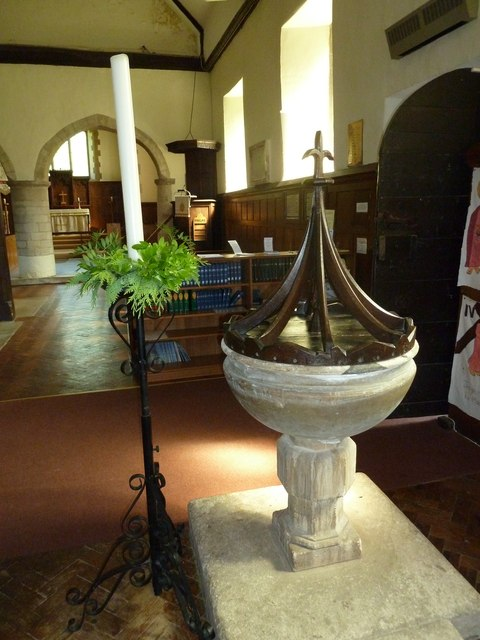 All Saints, Upper Clatford: candle