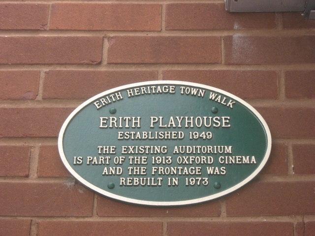 Erith Playhouse Green Plaque