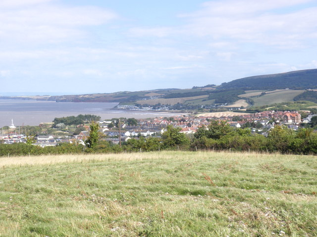 Watchet, viewed from the cliffs, to the west of the town