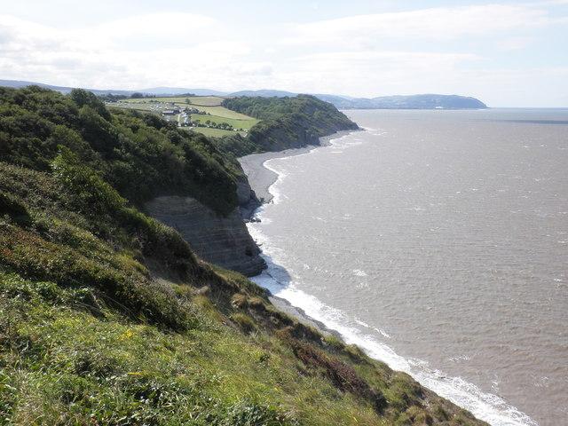 The cliffs, west of Watchet