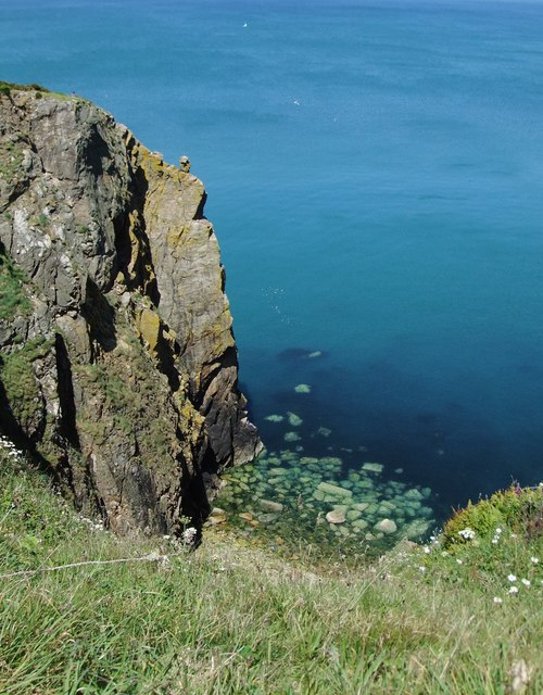 View from the cliff top, near Needle Rock