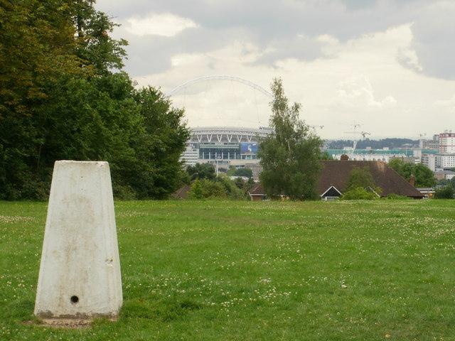 Triangulation pillar on Barn Hill, Wembley